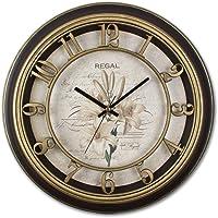 REGAL 9117 B3 Dekoratif Sessiz Akar Saniyeli Vintage İskelet Kadran Duvar Saati