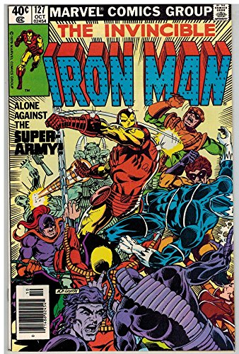 IRON MAN 127 VF+ ALCOHOL crisis Oct. 1979 (Comic Original Art Book)