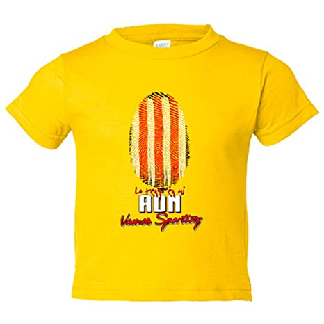 Camiseta niño lo tengo en mi ADN Sporting fútbol - Amarillo, 3-4 años