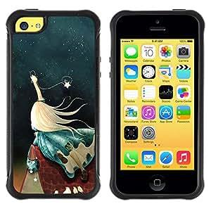 Suave TPU GEL Carcasa Funda Silicona Blando Estuche Caso de protección (para) Apple Iphone 5C / CECELL Phone case / / girl wish /