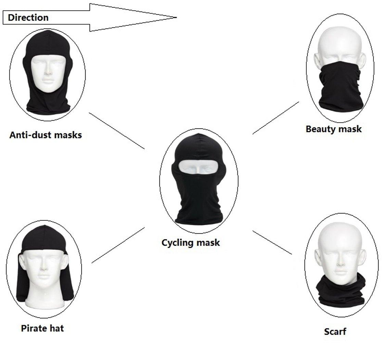 Hi-crazystore Ski Mask Winter Neck Protect Keep Warm Cycling Motorcycle Mask (Black)