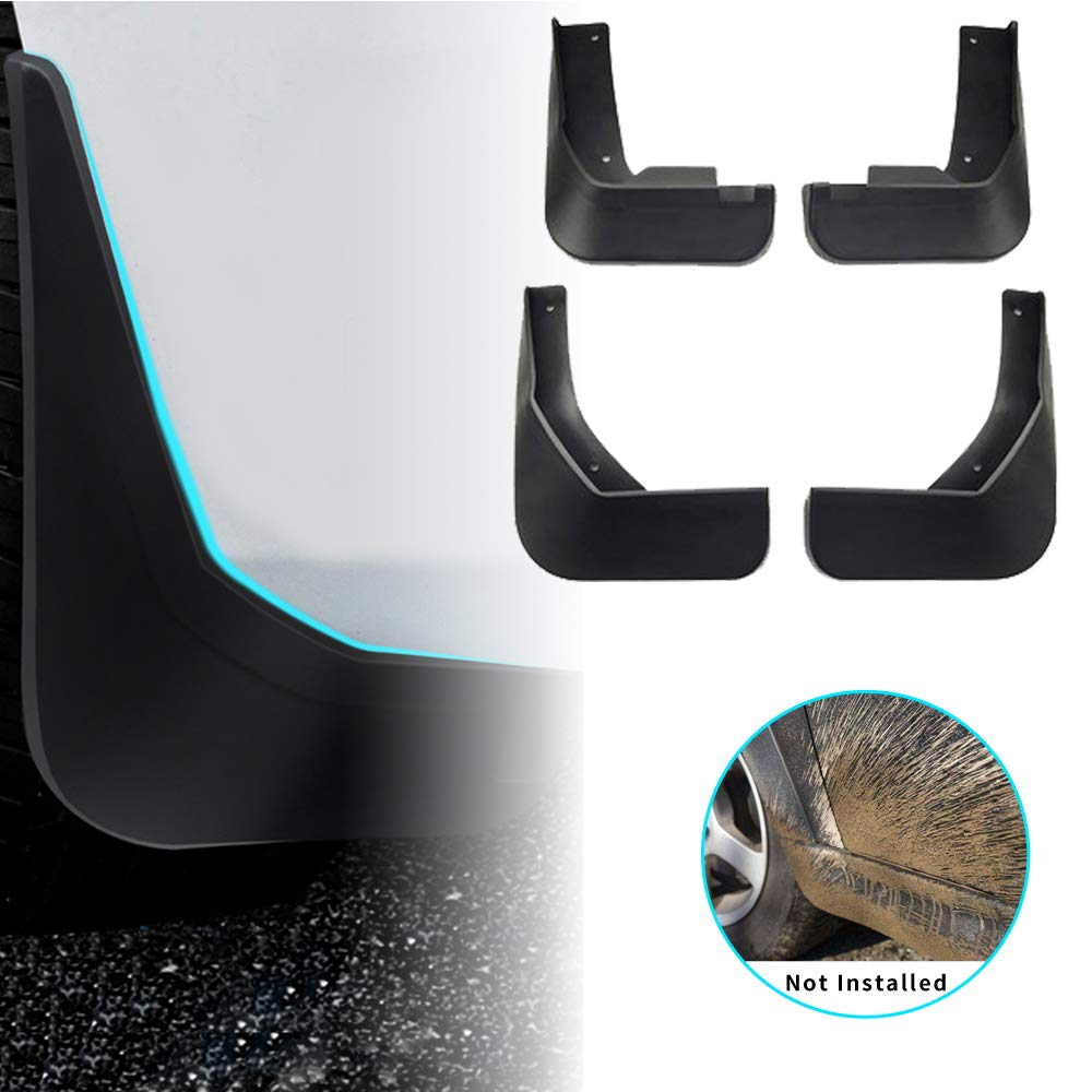 2008-2018 Car Mud Flaps Splash Guards Mudguard Front and Rear Fender Accessories 4Pcs Set with Screw For V olkswagen V W TIGUAN MK1