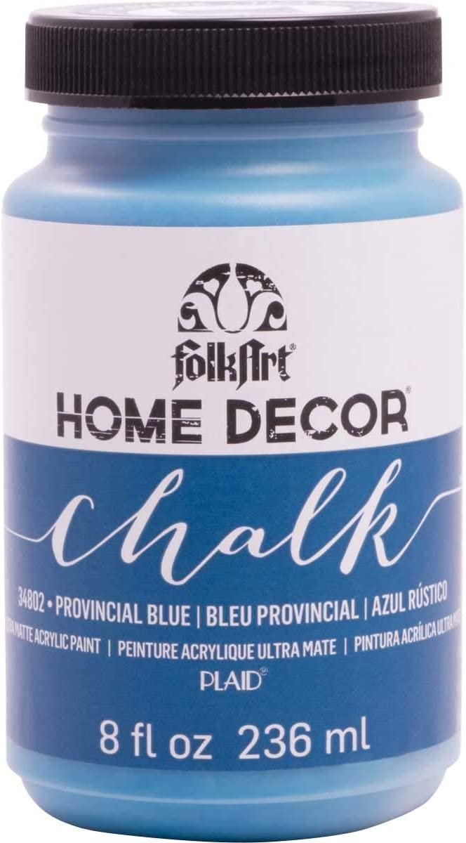 FolkArt Home Decor Chalk Furniture & Craft Paint in Assorted Colors, 8 ounce, Provencial Blue