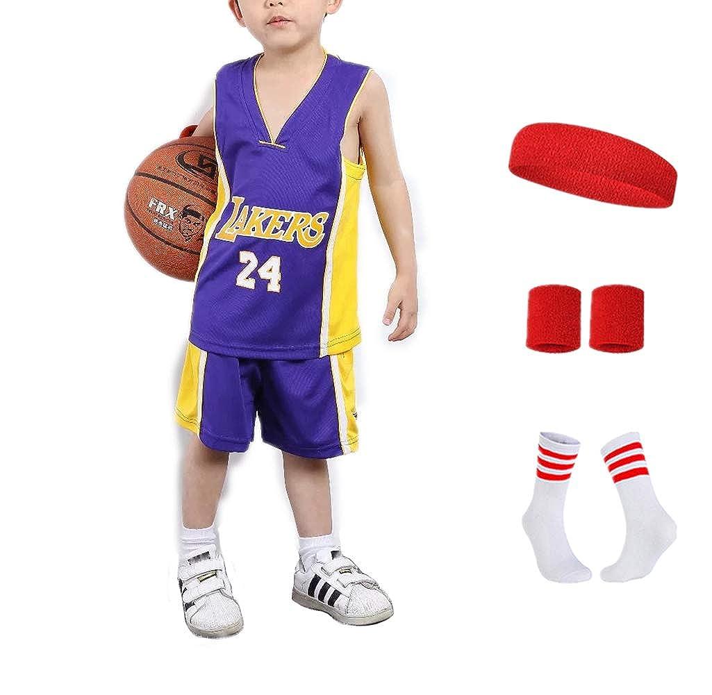 Niños Niñas Camisetas de Baloncesto Kobe Bryant, para Lakers ...