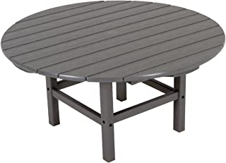 "product image for POLYWOOD RCT38GY Round 38"" Conversation Table, Slate Grey"
