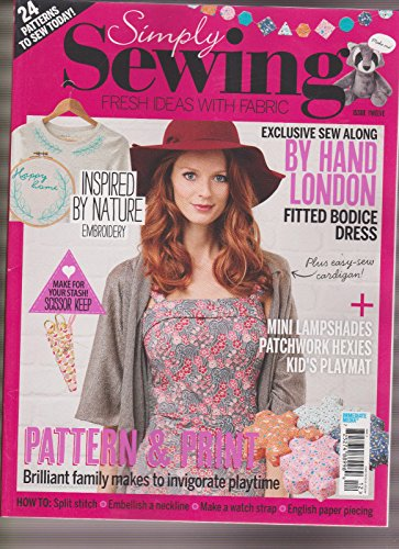SIMPLY SEWING MAGAZINE #12, ONLY MAGAZINE, FREE GIFTS MISSING.