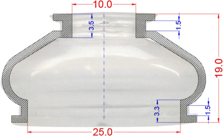 2 x Universal Staubschutzkappe Silikon 12 26 25 Spurstangenkopf und Kugelgelenk-Staubkappen