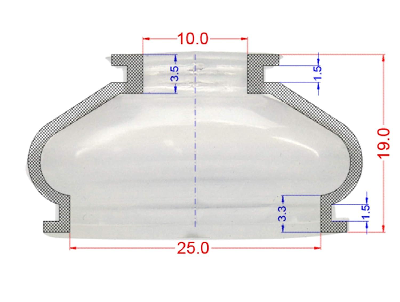 Lot de 2 protections anti-poussi/ère universelles en silicone 10 25 19 Rotule de direction et joint /à rotule