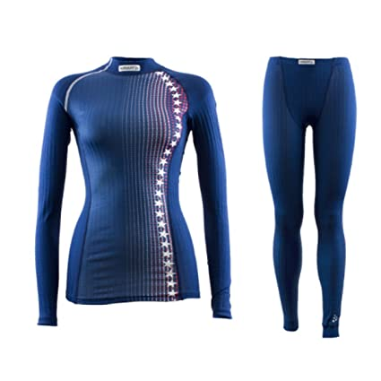 Craft Sportswear Women s US Ski Team Active Extreme Nordic Cross Country  Skiing Lightweight Long Sleeve Shirt and Pant Set  snowboard cold  weather resort 9abfd11f4