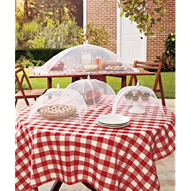 Set of 4 Mesh Food Covers Outdoor Tabletop Food Cover Barbecues