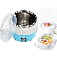 Yogurteras, Maquina para Hacer Yogur Casero,Delineador de acero inoxidable, fácil de limpiar ,Capacidad 1L, 2-3 personas (Azul)