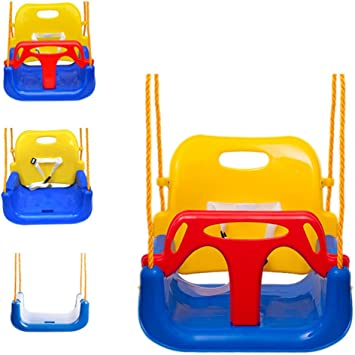 EXTSUD 3 En 1 Columpios Infantiles para Bebés Niños con Silla Convertible en Asiento de Seguridad, Carga Máx. 150 KG, para Casa Jardín Interiores o Exteriores (Azul): Amazon.es: Juguetes y juegos