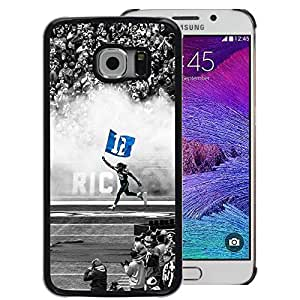 Snap-on Series Teléfono Carcasa Funda Case Caso para Samsung Galaxy S6 EDGE , ( 12 Football Star )