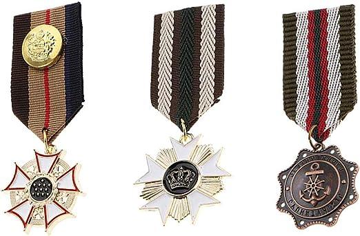 Ogquaton 3 Piezas Retro Steampunk Badge Broche Pin Medalla de ...