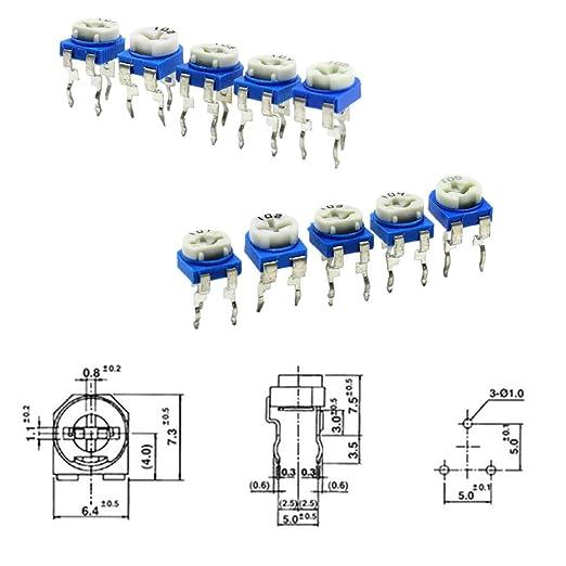 20pcs New RM065 5K ohm 502 Trim Pot Trimmer Potentiometer