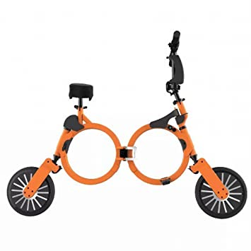 XC Coche Plegable Ultraligero Mini-Portátil Dos Rondas de Scooter Eléctrico para Adultos Scooter Bici