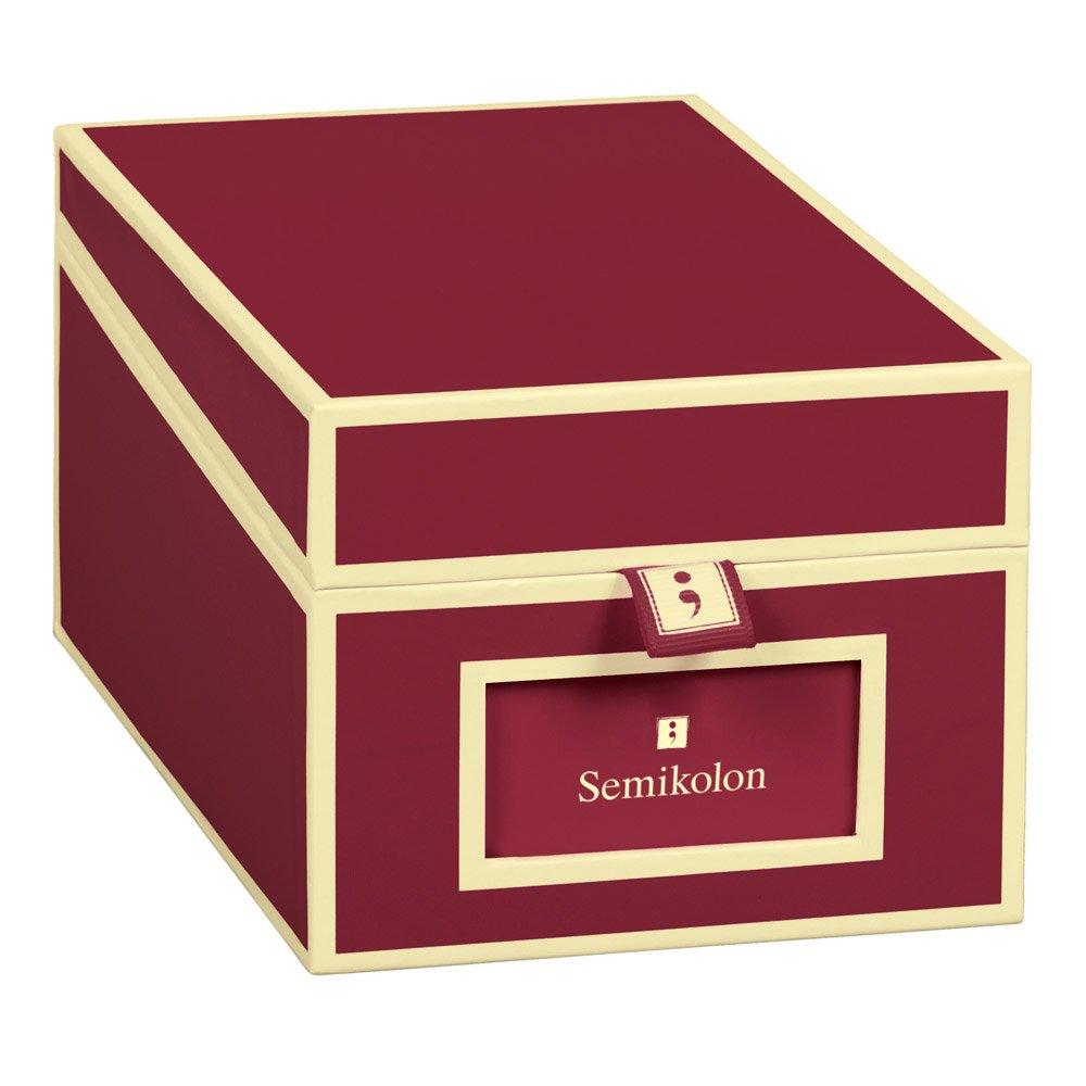 Box per biglietti da visita bordeaux +++ per LA RACCOLTA DI BIGLIETTI DA VISITA +++ qualità originale Semikolon LEUCHTTURM1917