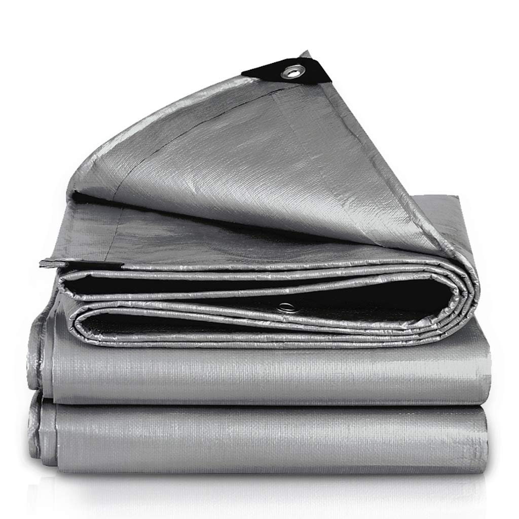 1.9×2.9 Mysida Tarpaulin BÂche extérieure imperméable de bÂche de bÂche résistante avec la résistance en Plastique de Larme de Toile de Camion épaissie par crème Solaire (Taille   2.8×3.8m)