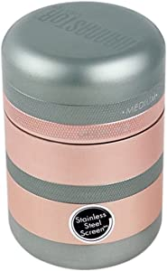 KANNASTOR GR8TR V2 Grinder - Solid Premium Food Grade Quality Aluminum - 8 Pieces - 60 Mesh Stainless Easy Change Screen - Perfect for Herb Spices - Smooth Grind Easy Cleaning - Storage Lid