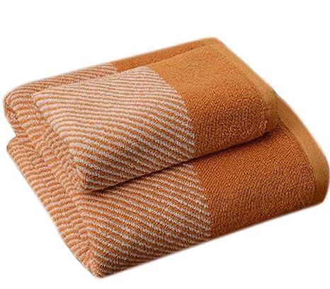 Juego de Toallas de algodón con Rayas Suaves Juego de Toallas de baño para el hogar