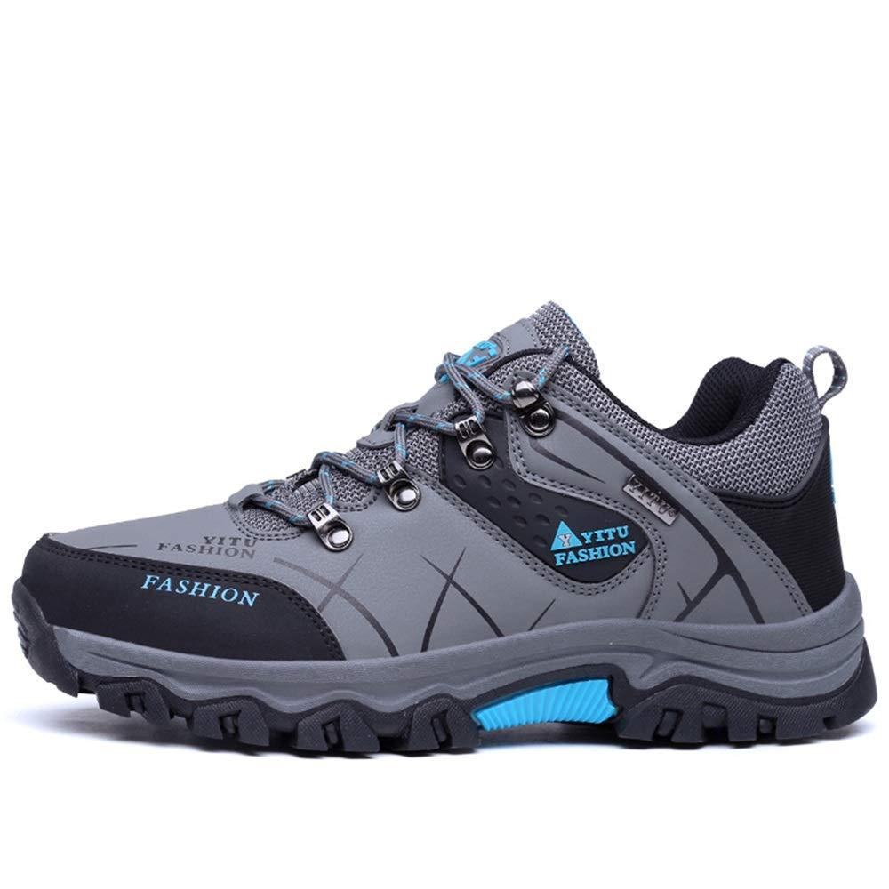 Qiusa Outdoor Wanderschuhe für Männer Breathable Durable Soft Sole Rutschfeste Punch Resistant Schuhe (Farbe : Blau, Größe : EU 40)