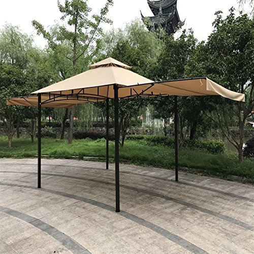 Rust Resistant Steel Frame Outdoor Gazebo with Side Curtains 11'W X 11'D + Free (Frame Gazebo)