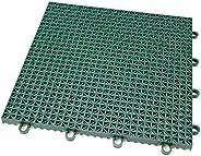 IncStores Outdoor Sports Tile Basketball Court Flooring (Evergreen, 40 Tiles (10x4 Area))