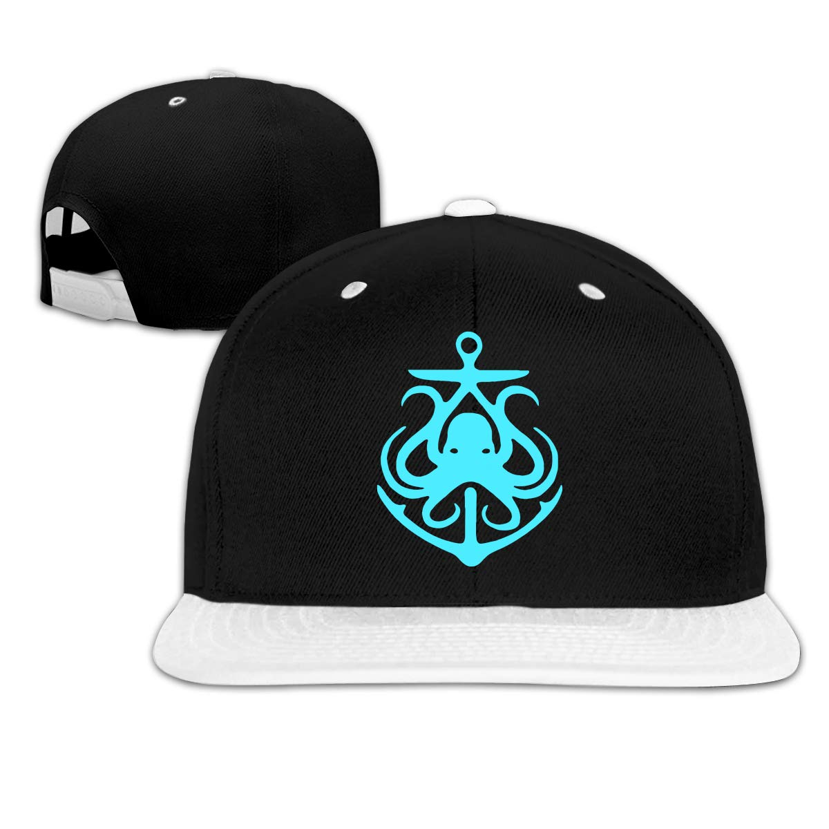 Octopus with Anchors Adjustable Baseball Hat