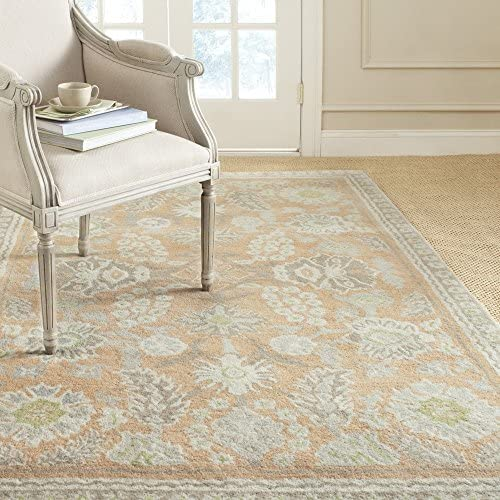 Safavieh Martha Stewart Collection MSJ5541B Handmade Conch and Pink Premium Wool and Viscose Area Rug 9 x 12