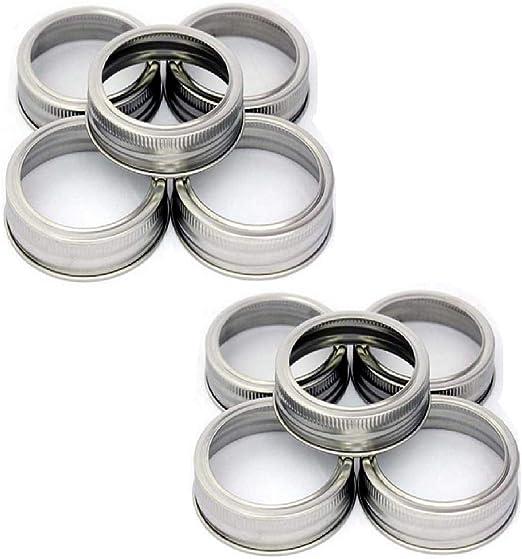 Canning Jars,Storage Set of 10 wide mouth Mason Jar Replacement Rings//Bands//Tops Durable /& Rustproof Tinplate Metal Bands//Rings for Mason Jar Ball Jar