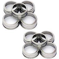 Mason Jar Replacement Rings/Bands/Tops Durable & Rustproof Tinplate Metal Bands/Rings for Mason Jar, Ball Jar, Canning Jars,Storage (Set of 10 wide mouth)