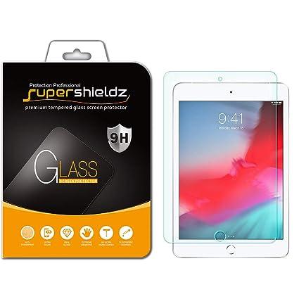 0a8c2d3286b Amazon.com: Supershieldz for Apple iPad Mini 5 (2019) and iPad Mini 4  Tempered Glass Screen Protector, Anti Scratch, Bubble Free: Computers &  Accessories