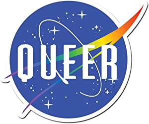 Dark Spark Decals Space Queer LGBT Pride - 4 Inch Full Color Vinyl Decal for Indoor or Outdoor use, Cars, Laptops, Décor, Windows, and More