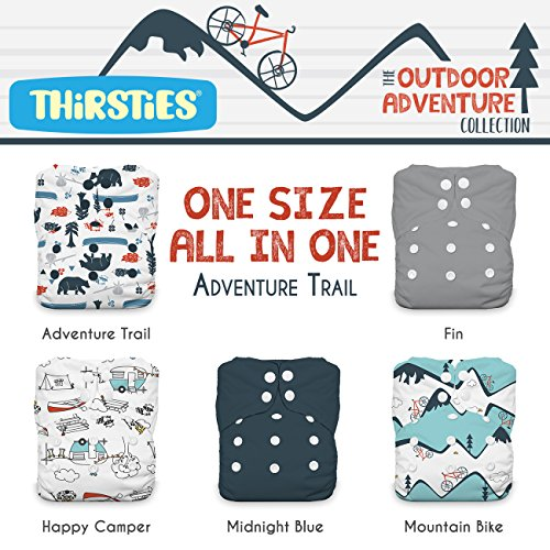 - Thirsties Package, Snap One Size All In One, Outdoor Adventure Collection Adventure Trail