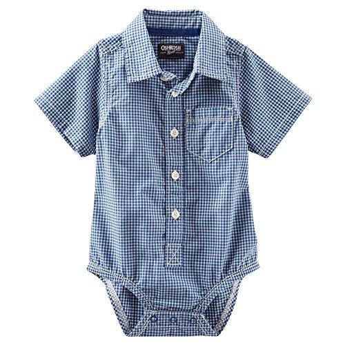 OshKosh BGosh Baby Plaid Poplin Bodysuit (Blue, 24 months)