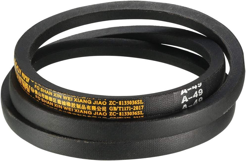 uxcell A-53 Drive V-Belt Girth 53-inch Industrial Power Rubber Transmission Belt