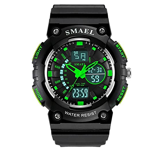 Guay Relojes Digitales para Hombre Reloj Deportivo con Temporizador de Alarma Negro Cool Watches: Amazon.es: Relojes