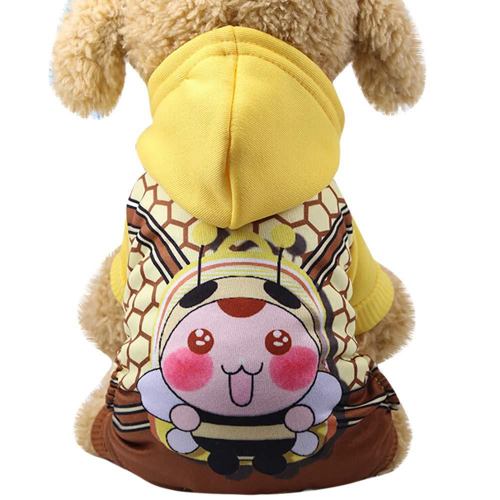 ❤️ Sunbona Schoolbag Cartoon Fake Straps Hoodied Sweatshirts Dog Clothes Pet ClothingShoulder School Bag