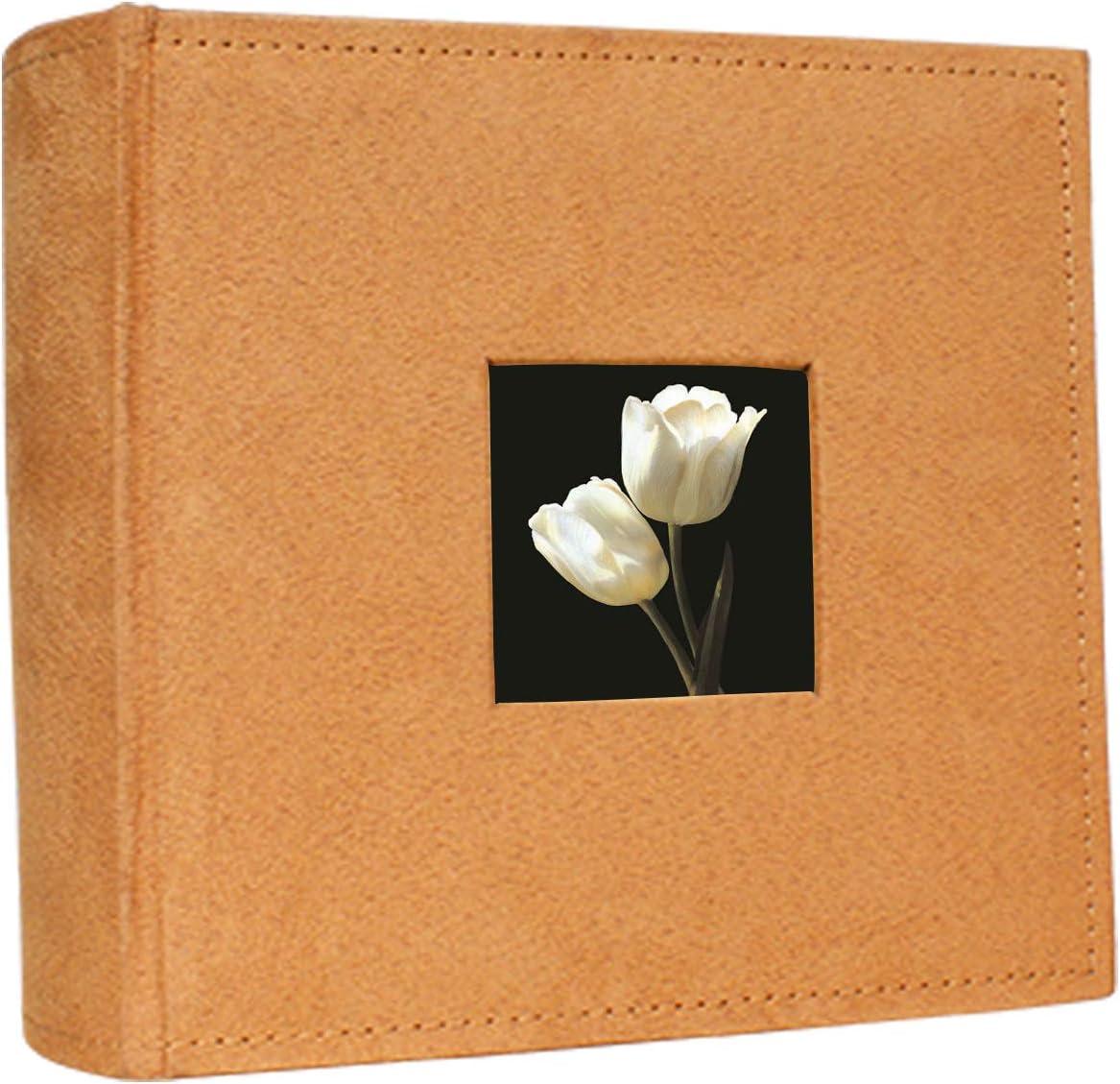 Flannel Cover Features a Frame ERBAO Memo Photo Album 4x6 200 Photos Orange