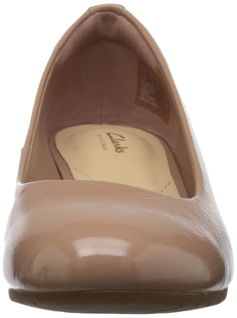 CLARKS Women's Vendra Bloom Wedge Pump Patent B073ZL9PZD 5.5 B(M) US|Beige Patent Pump Leather 3d03a1