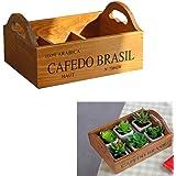 Easydeal Wooden Garden Window Box Trough Planter Succulent Flower Bed Pot (Six gird)