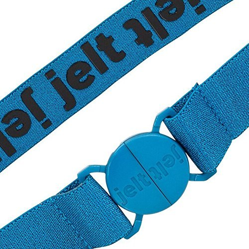 Strong & Invisible Elastic Stretch Belt by Jelt - Fits Women and Men Perfectly - Great With Any Pants! - Eco-Friendly (River Turquoise Blue, Small)