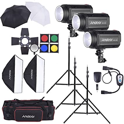 Andoer MD 300 900 W (300wx3) Studio luz estroboscópica Flash