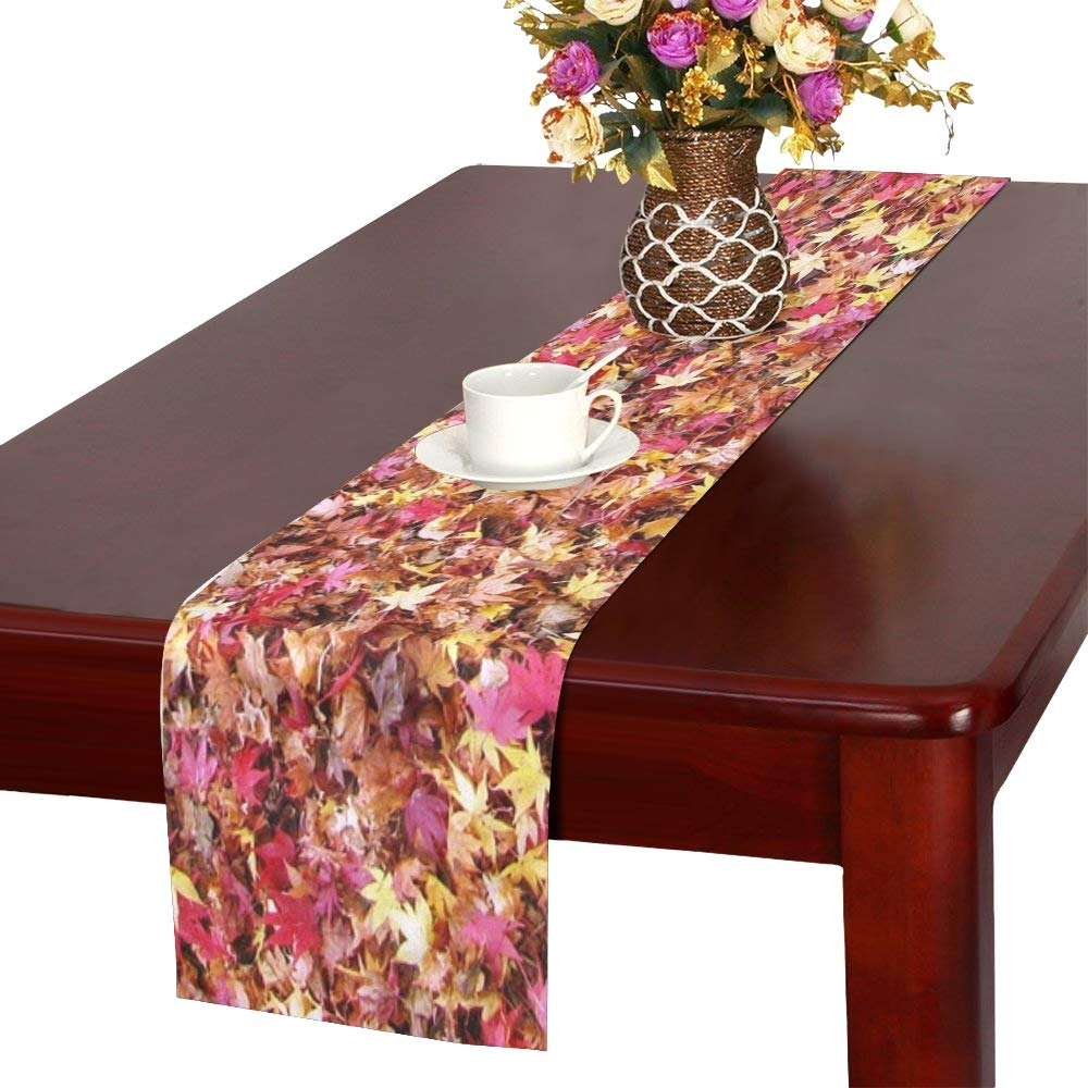 Fallen Leaves Fall Of Japan Maple Rugs Autumn Color Table Runner, Kitchen Dining Table Runner 16 X 72 Inch For Dinner Parties, Events, Decor by RYUIFI (Image #1)