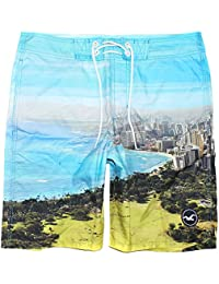 Mens Graphic Swim Trunks Board Shorts W/Inner Mesh HOM-22. Hollister