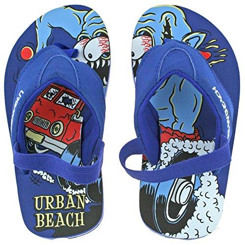 Urban Beach Boys Infants Nang Blue Sling Back Flip Flops Beach Sandals-UK 6 (EU 23)