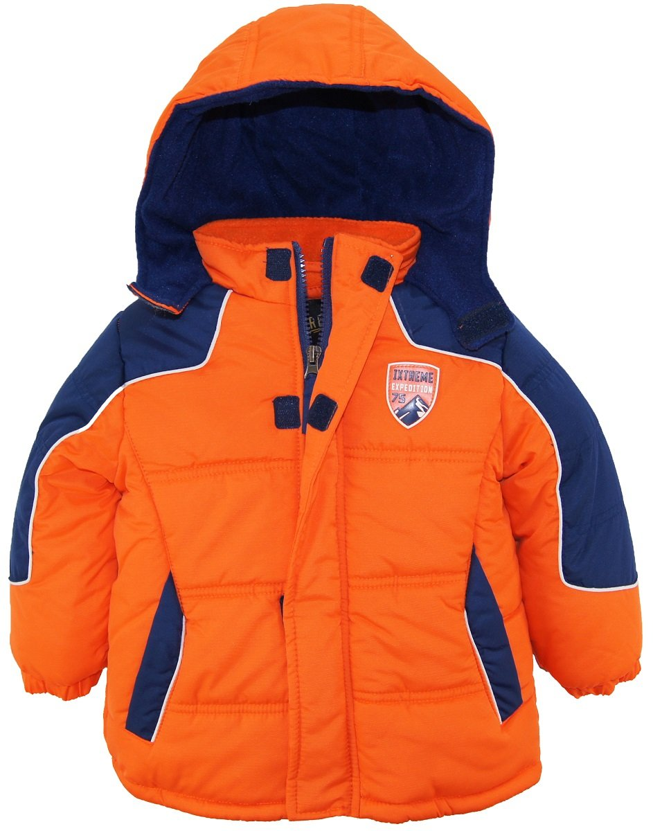 iXtreme Little Boys' Rip Stop Active Color Block Puffer Winter Jacket