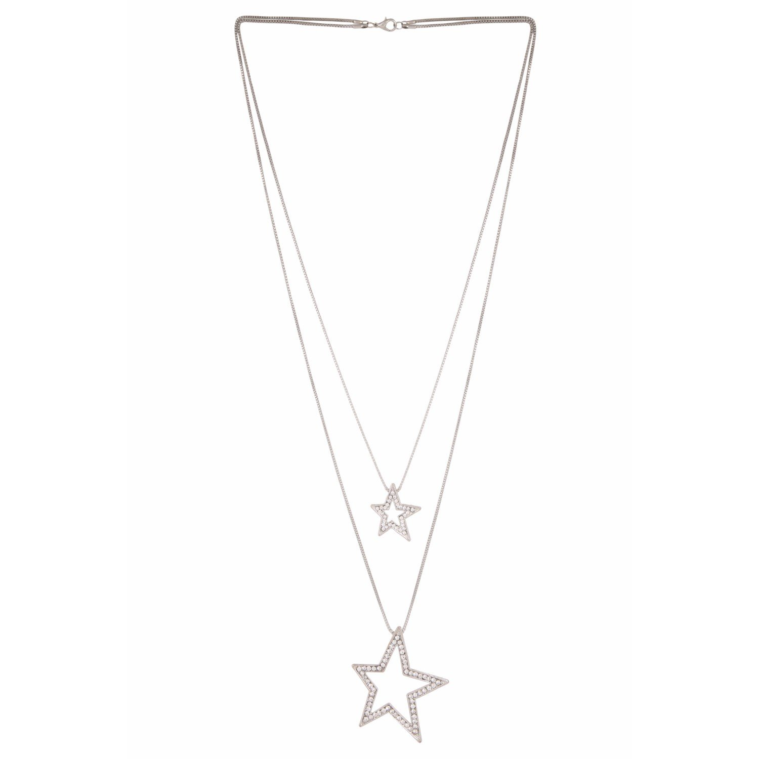 Efulgenz Trendy Stylish Fancy Party Wear Double Layered Long Chain Key Pendant Lariat Y Necklace Fashion Costume Accessories for Women and Girls (Style1)