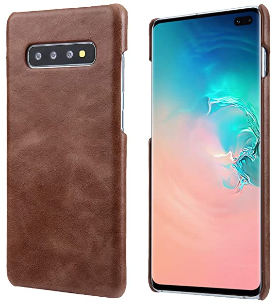 timeless design 5864b 7671e S10+ Leather Case, Reginn Slim Fit Phone Cover [Wireless Charging  Compatible] Genuine Leather Case for Samsung Galaxy S10 Plus (Saddle Brown)