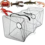 Clary Fishing Bait Trap Fish Net Cast Dip Cage Crab Minnow Crawdad Shrimp Foldable (Size : 21X45cm)